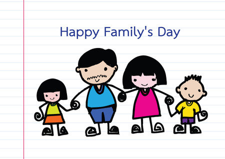 foster parenting: Happy family