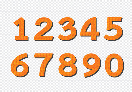 numbers abstract: Numbers set in  illustration ,  abstract number