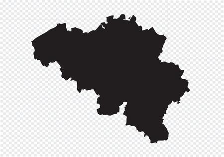 Belgium map Vectores
