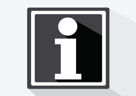 Information sign icon