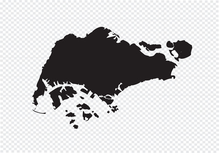 Singapore map Vectores