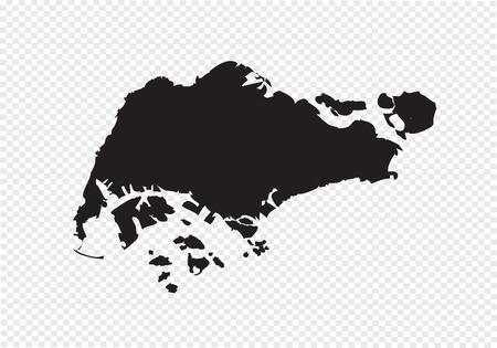 Singapore map Vettoriali