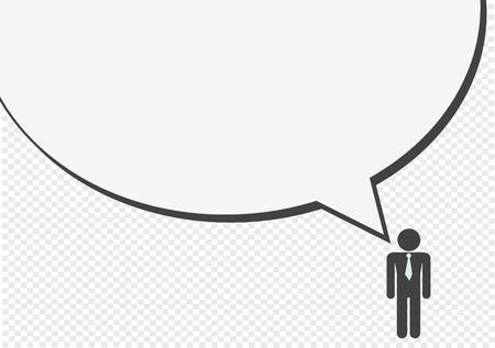 personas pensando: Man Thinking People Talking Conversaci�n Icono S�mbolo S�mbolo Pictograma Vectores