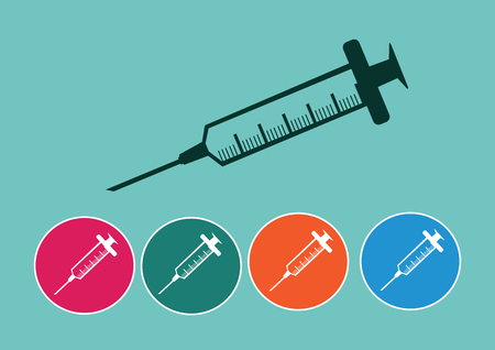 syringe icons set Vector