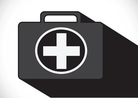 botiquin primeros auxilios: Primera icono botiqu�n Vectores