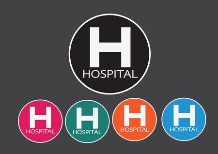 er: Hospital icon illustration Illustration