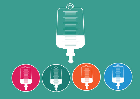 iv bag: Collection of iv bag icon