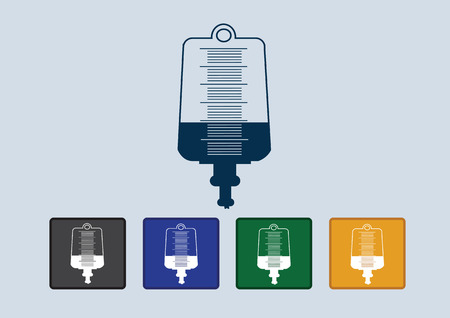 saline: Collection of iv bag icon
