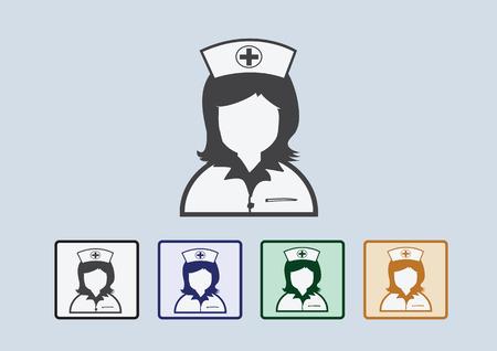 Nurses icons Vector