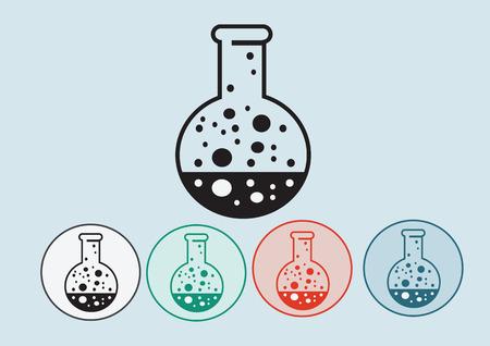 laboratory equipment: Laboratory equipment icon set