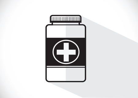 Medicine Bottle Illustration