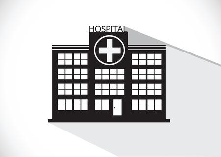 building site: Hospital building icon design in illustration Illustration