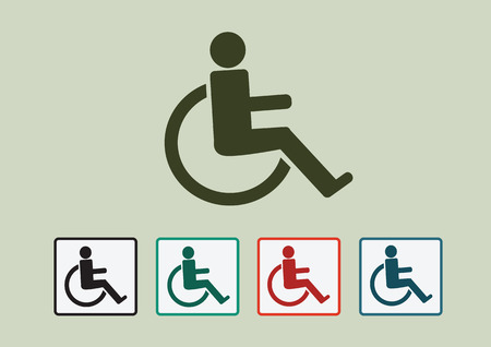 Wheelchair Handicap Icon design Vector