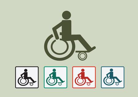 핸디캡: Wheelchair Handicap Icon design