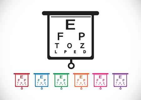 snellen: Eye Chart Test Illustration Illustration