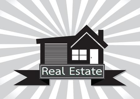 real estate house: Real Estate  House  Building icon design Illustration