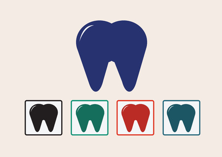 toothcare: Tooth Icon Illustration