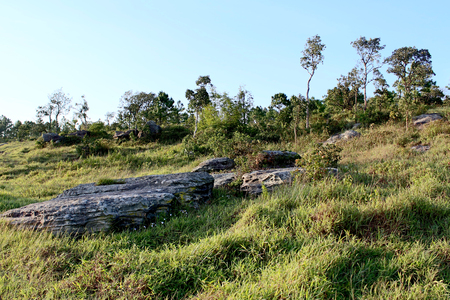 loei: stone landscape on Phu Rua mountain  , Phu Rua, Loei, , Thailand Stock Photo