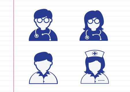 infermiere paziente: Medico Infermiere Malato paziente Icona Segno Pittogramma Simbolo