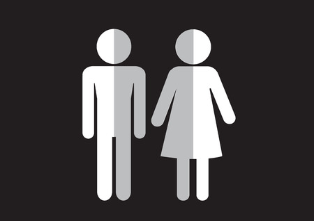 Pictogram Man Woman Sign icons, toilet sign or restroom icon Stock Vector - 29897485