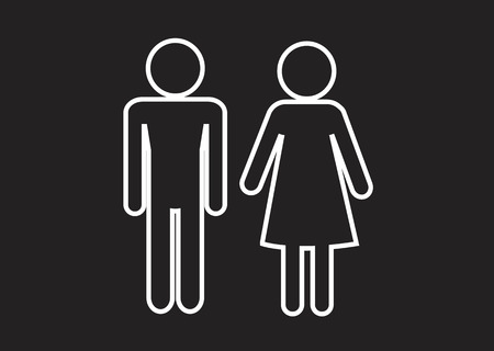 Pictogram Man Woman Sign icons, toilet sign or restroom icon Stock Vector - 29897450