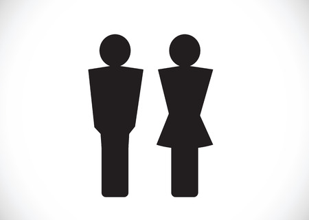 Pictogram Man Woman Sign icons, toilet sign or restroom icon Stock Vector - 29897505