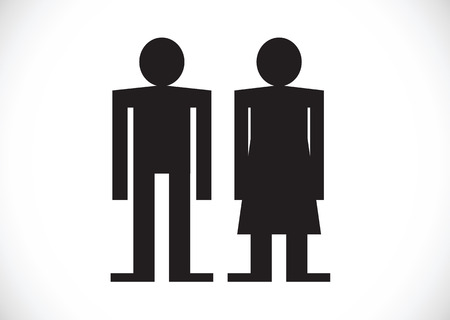 Pictogram Man Woman Sign icons, toilet sign or restroom icon Stock Vector - 29897556