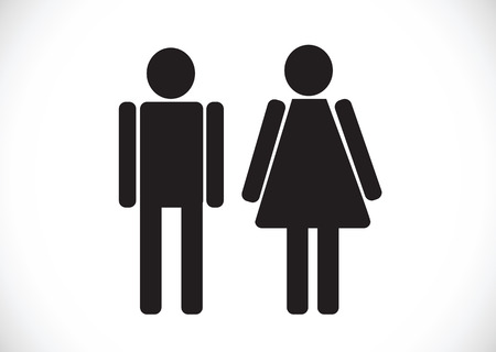 Pictogram Man Woman Sign icons, toilet sign or restroom icon Stock Vector - 29897555
