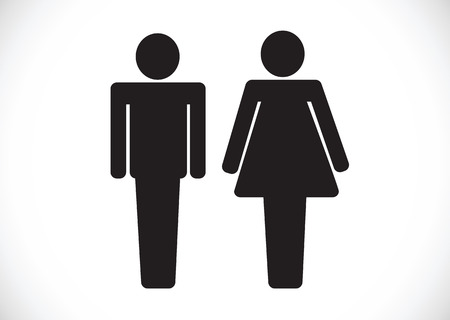 Pictogram Man Woman Sign icons, toilet sign or restroom icon Stock Vector - 29897559
