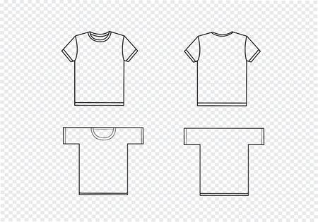 man back view: t-shirt design templates Illustration