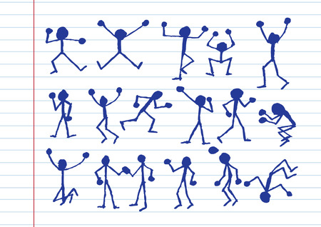 joining forces: people activity  icons in illustration