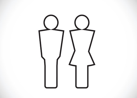 Pictogram Man Woman Sign icons, toilet sign or restroom icon Stock Vector - 29897663