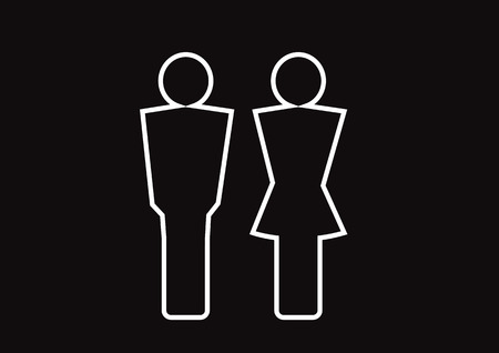 Pictogram Man Woman Sign icons, toilet sign or restroom icon