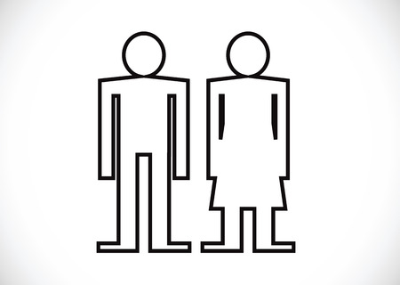 Pictogram Man Woman Sign icons, toilet sign or restroom icon Stock Vector - 29897691