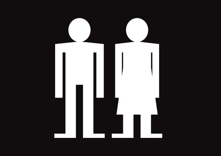 Pictogram Man Woman Sign icons, toilet sign or restroom icon Stock Vector - 29897670