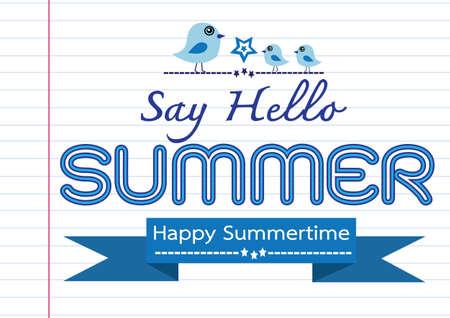Summer concept  idea design card Vector