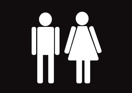Pictogram Man Woman Sign icons, toilet sign or restroom icon Stock Vector - 29898064