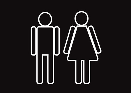 Pictogram Man Woman Sign icons, toilet sign or restroom icon Stock Vector - 29898162