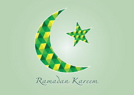 moon festival:  Ramadan Kareem Colorful moon and star for holy month of muslim