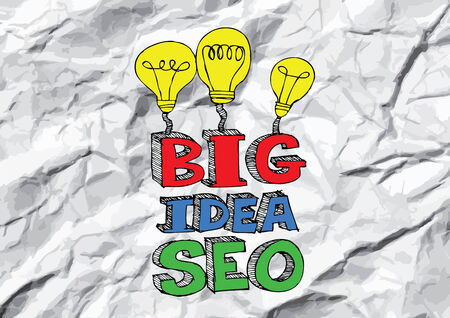 meta search: Seo Idea SEO Search Engine Optimization su carta stropicciata