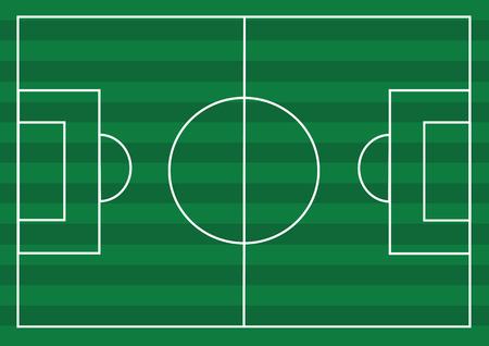 speelveld gras: Soccer field or Football textured grass field Stock Illustratie