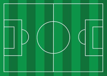 speelveld gras: Voetbalveld of Football getextureerde grasveld Stock Illustratie