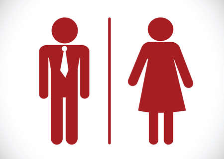 Restroom icon and Pictogram Man Woman Sign Vector