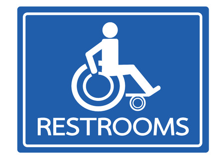 disabled access: Restrooms for Wheelchair Handicap Icon design
