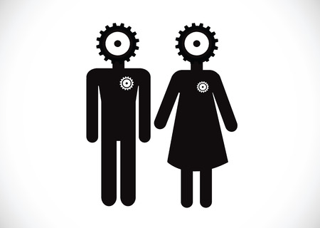 Pictogram Man Woman Sign icons, toilet sign or restroom icon Stock Vector - 30129240