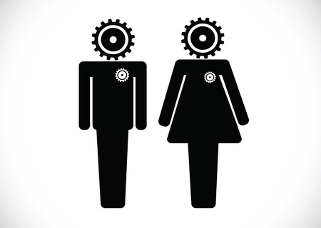 Pictogram Man Woman Sign icons, toilet sign or restroom icon Stock Vector - 30129242