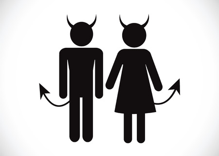 devil man: Pictogram Devil Icon Symbol Sign
