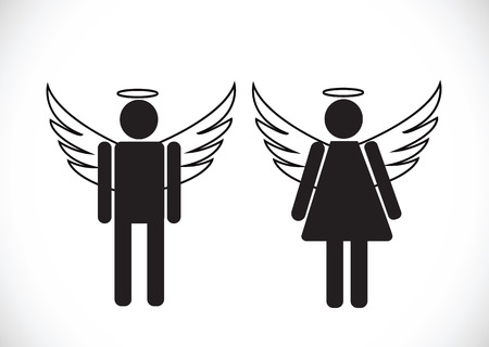 Pictogram  Angel Icon Symbol Sign Vector