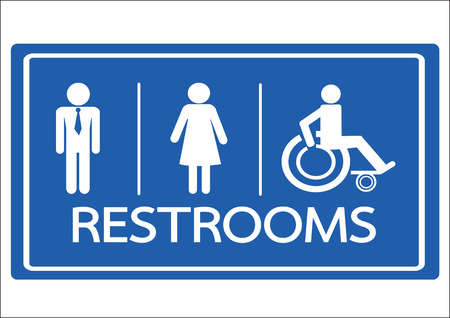 male and female: Restroom Symbol Male  Female and Wheelchair Handicap Icon