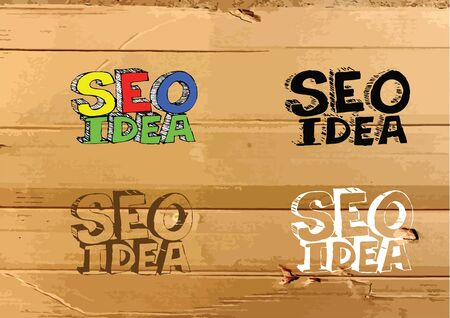 meta tags: Seo Idea SEO Search Engine Optimization on Cardboard Texture illustration
